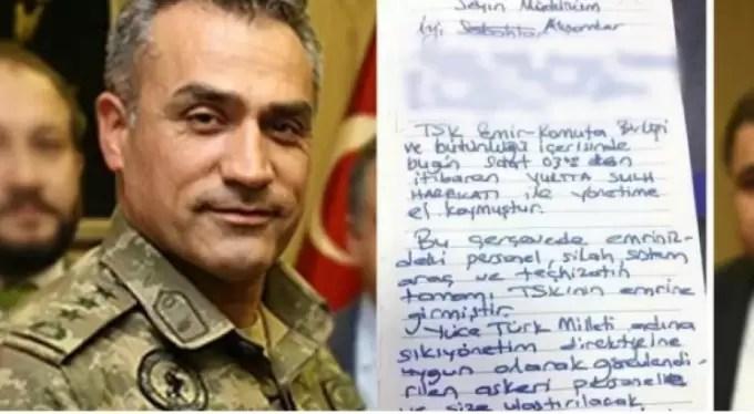 Firari FETÖ'cü albayın talimat mektubu ortaya çıktı!