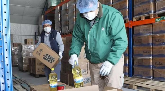 Pandemi nedeniyle yardım