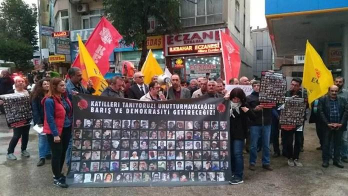 Ankara katliamı protestosu