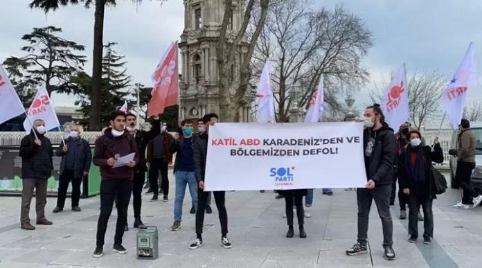 Dolmabahçe protesto