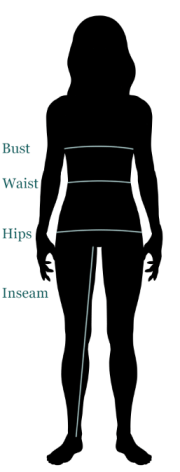 woman measure for sizes