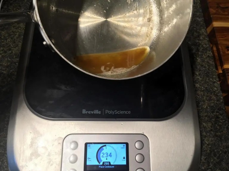 Making brown butter on the Breville PolyScience Control Freak