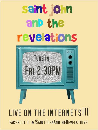 Saint John live web broadcast flier