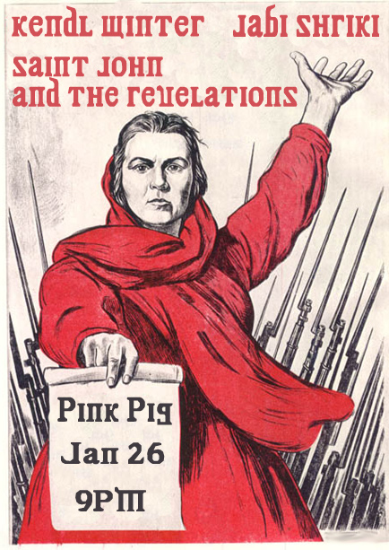 Saint John and the Revelations at the Pink Pig Bar in Olympia WA