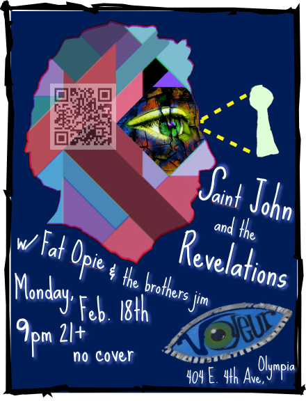 Saint John and the Revelations at Le Voyeur in Olympia Washington