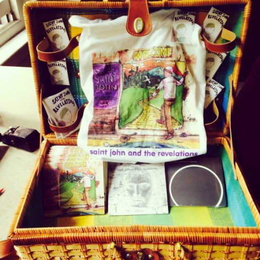 Saint John and the Revelations Merch Basket