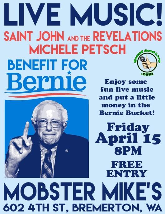 Saint John and the Revelations Bernie Sanders Benefit