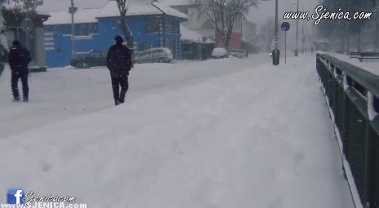 Pozdrav iz Sjenice - Zimska razglednica