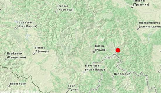 Zemljotres Srbija 05.02.2015.