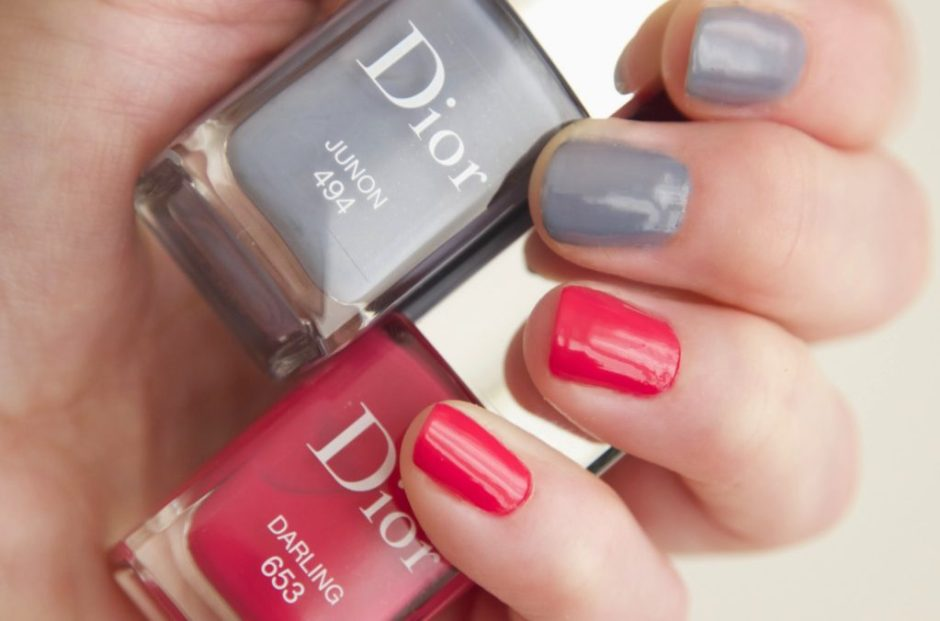 DIOR ADDICT BECOMING Darling 653 Juno 494 swatches nail polish nagellak vernis review 1