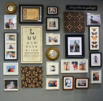 picture frames on the wall mooie fotowand diy
