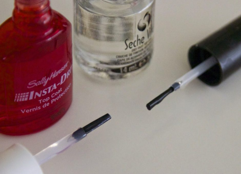 insta dry top coat vs seche vite nagelversterker strike nagels review swatches