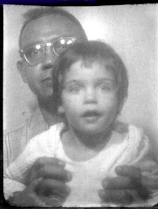 Susan and Dad at Daytona Beach, Florida 1960s