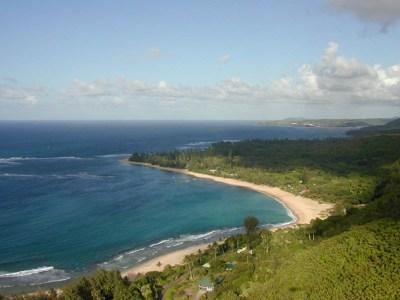 Ke'e Beach from the Na Pali trail.