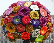 Lyon flower sculpture