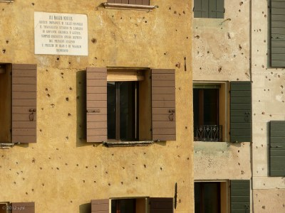 See the bullet holes from World War I?
