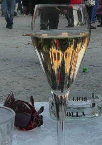 Took a break for a glass of Proseco, Italian sparkling wine.