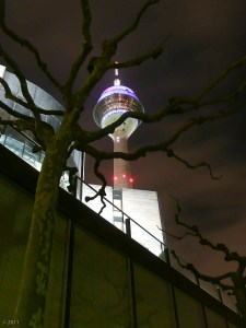 The ghostly Rheinturm. You go lie in one of those windows!