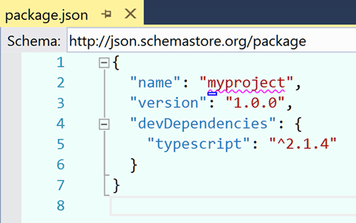 Basic package.jason file