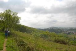 Randonnée avec vue sur la vallée d'Espelette