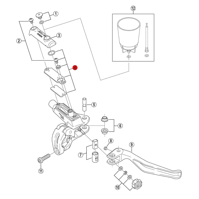 Shimano Deore Xt Bl M785 Separator Unit 8vc