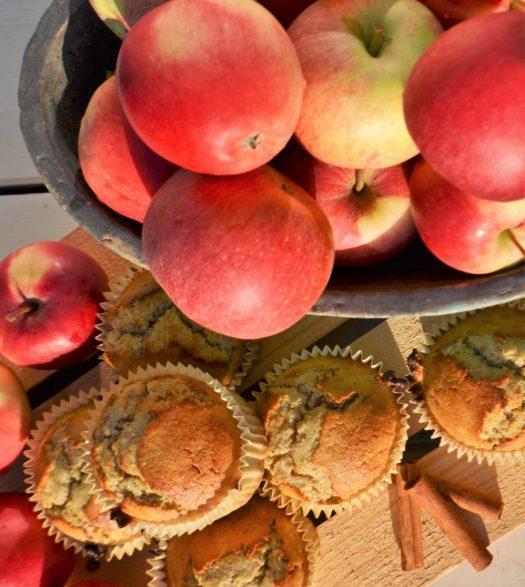 glutenfri äppelmuffins