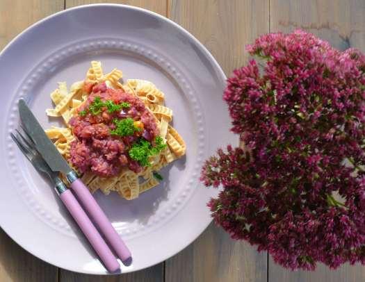 lila pastasås