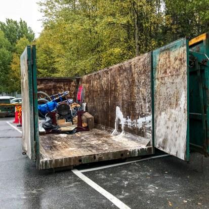 Container för grovsopor.