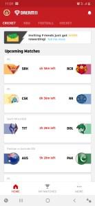 dream11 app matches