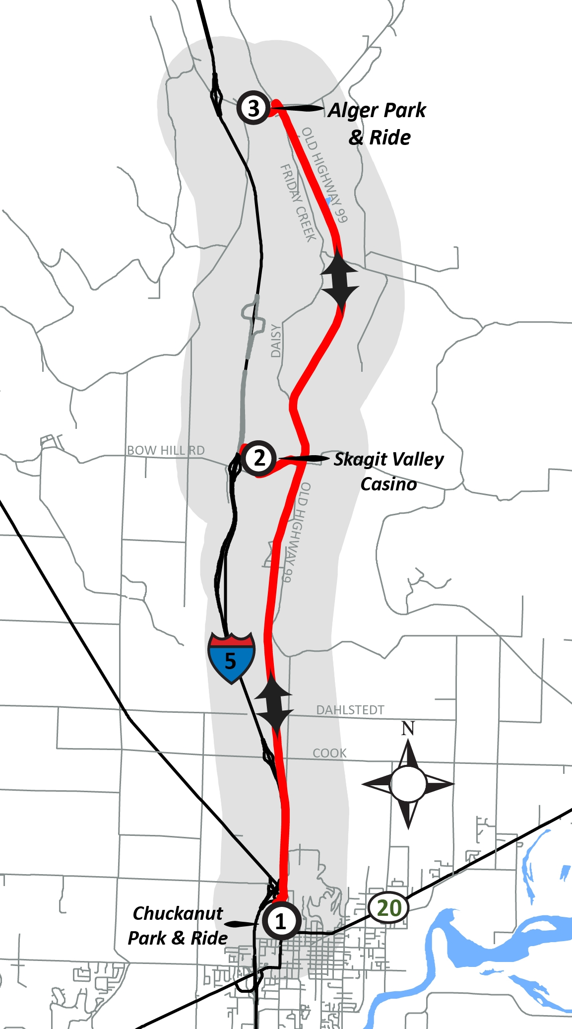 Skagit Valley College Campus Map