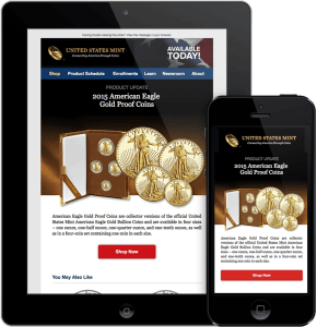 US Mint Responsive Email