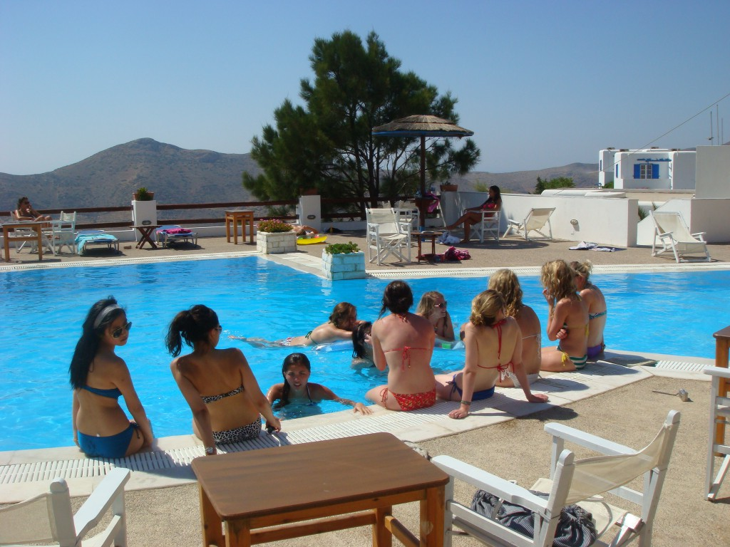 Skala Hotel Ios - Swimming pool area