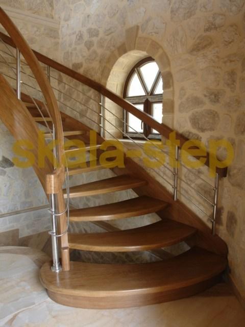 Ζάκυνθος εναέρια δρυςξύλινη σκάλα εσωτερικού χώρου