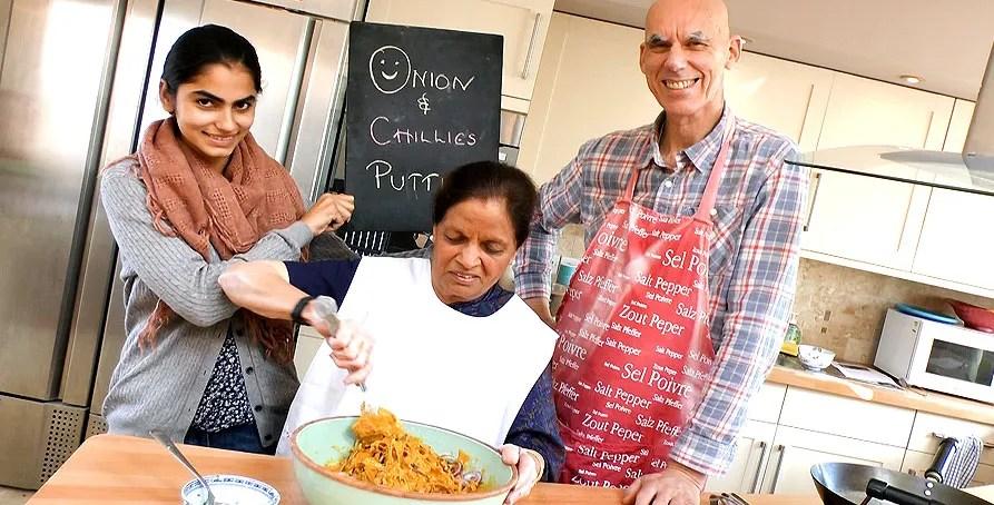 Onion bhajis for Diwali