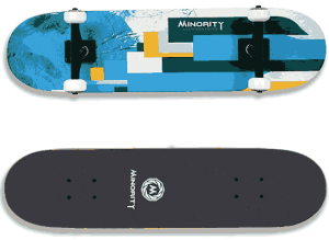 MINORITY 32inch Maple Skateboard- good skateboards for beginners