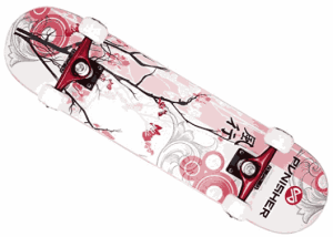 Punisher Skateboards 9001 Cherry Blossom - best starter skateboards
