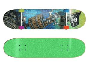 SkateXS Beginner Pirate Street Skateboard - best skateboard for 8 year old