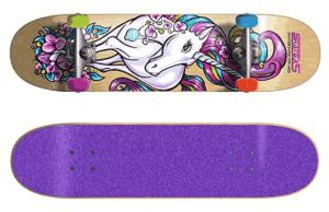 SkateXS Beginner Unicorn Girls Skateboard - girls complete skateboards