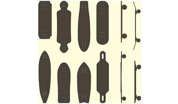similarities between skateboard boards