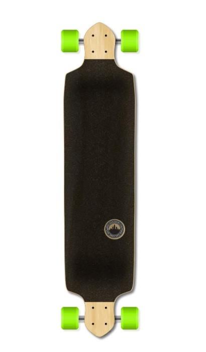 Yocaher Blank/Checker Complete Drop Down Skateboards Longboard Black Widow 80A Grip Tape Aluminum Truck ABEC7 Bearing 70mm Skateboard Wheels