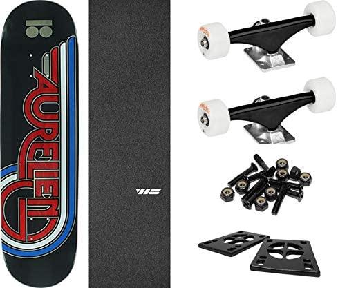 "Plan B Skateboards Aurelien Giraud Flight Skateboard Deck - 8.5"" x 32"" with Components - Bundle of 6 Items"