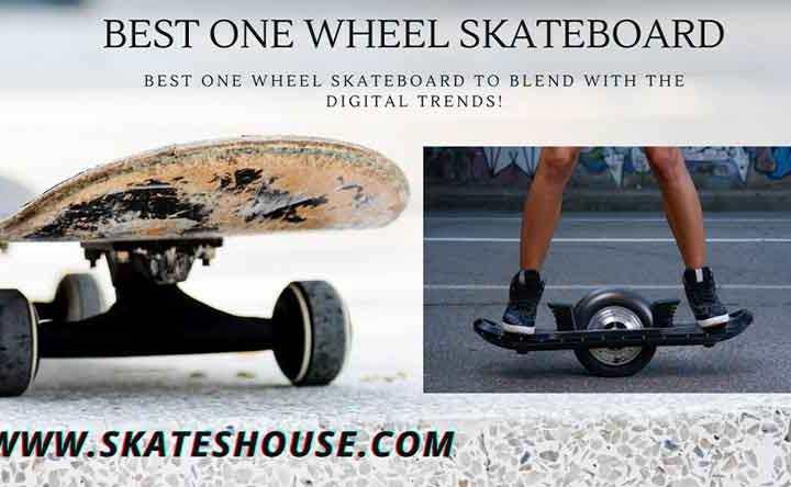 One wheel skateboard