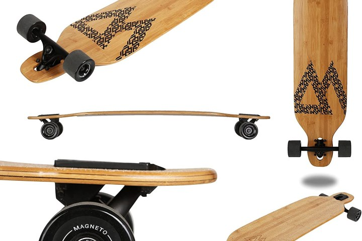 Magneto Longboards Bamboo Longboards is a best carving longboard with The ultimate bamboo longboard for carving up the road and many features included with a standard price.