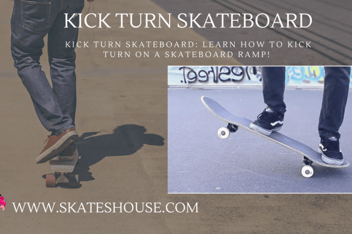 Kick turn skateboard is a trick to ride a skateboard.