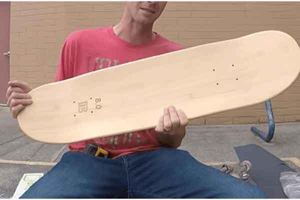 skateboard bamboo wood