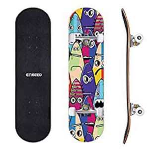 ENKEEO 32″ Double Kicktail Skateboard