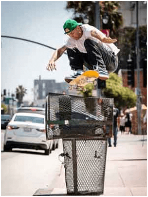 """Andrew Rayneods, owner and co-founder of the skateboarding brand """"Baker"""", is one of the best professional skaters in the world."""