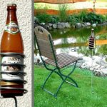Bierflaschenhalter für den Garten beim Skat spielen