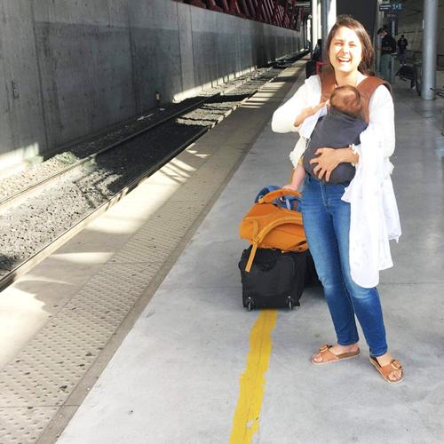 Notre départ pour Montpellier.