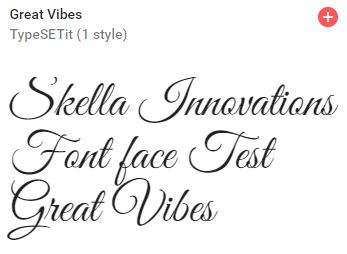 great vibes google font